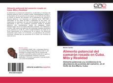 Portada del libro de Alimento potencial del camarón rosado en Cuba. Mito y Realidad
