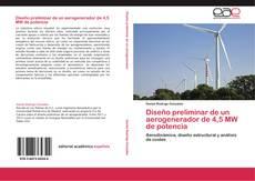 Buchcover von Diseño preliminar de un aerogenerador de 4,5 MW de potencia