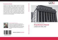 Portada del libro de Arquitectura Social