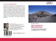 Обложка Ars música en Mesoamérica