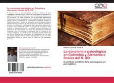 Обложка La conciencia psicológica en Colombia y Alemania a finales del S. XIX