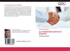Обложка La mediación penal en España