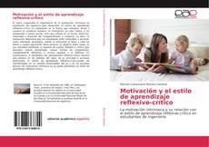 Capa do livro de Motivación y el estilo de aprendizaje reflexivo-crítico