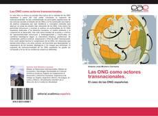 Обложка Las ONG como actores transnacionales.