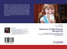 Bookcover of Reduction of Milk Proteins Allergenicity
