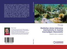 Portada del libro de Oxidative stress tolerance mechanisms in marine macroalgae (Seaweeds)
