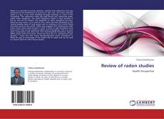 Bookcover of Review of radon studies