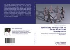 Buchcover von Beneficiary Participation In Community Based Development