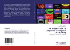 Couverture de An Introduction To Corporate Managerial Accounting