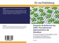 Portada del libro de Proyecto de Reformas ley 3909. Procedimiento Administrativo de Mendoza