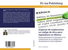 Bookcover of Urgencia de implementar un código de ética para legisladores en México