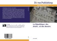 Capa do livro de La République: des droits...et des devoirs