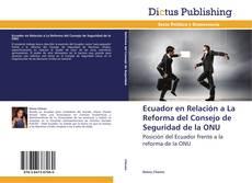 Portada del libro de Ecuador en Relación a La Reforma del Consejo de Seguridad de la ONU