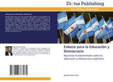 Copertina di Esbozo para la Educación y Democracia