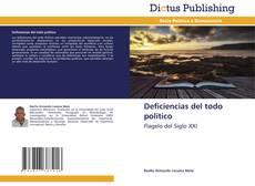 Bookcover of Deficiencias del todo politico