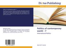 Copertina di Politics of contemporary world – 7