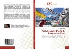 Portada del libro de Violations des Droits de l'Homme au Tibet