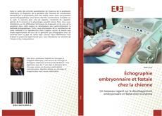Échographie embryonnaire et fœtale chez la chienne的封面