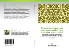 Bookcover of Спиновая жидкость и  квантовые эффекты в антиферромагнетиках