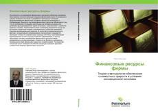 Buchcover von Финансовые ресурсы фирмы