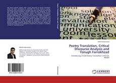 Bookcover of Poetry Translation, Critical Discourse Analysis and Forugh Farrokhzad