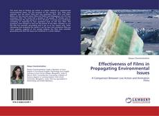 Bookcover of Effectiveness of Films in Propagating Environmental Issues
