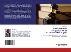 Bookcover of Constitutional Interpretation of Unenumerated Rights