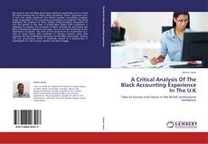 Couverture de A Critical Analysis Of The Black Accounting Experience In The U.K