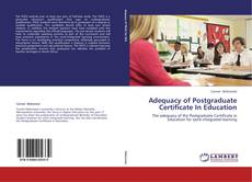 Bookcover of Adequacy of Postgraduate Certificate In Education