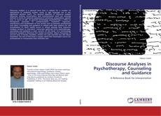 Portada del libro de Discourse Analyses in Psychotherapy, Counseling and Guidance
