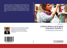 Portada del libro de A Short History of English Literature Volume 1