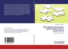 Buchcover von Strengthening the pay-performance link in government