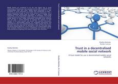 Buchcover von Trust in a decentralised mobile social network