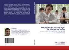 Обложка Testing English Language: An Evaluative Study