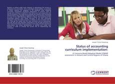 Borítókép a  Status of accounting curriculum implementation: - hoz
