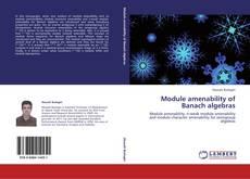 Bookcover of Module amenability of Banach algebras