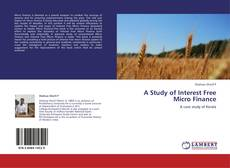 Buchcover von A Study of Interest Free Micro Finance
