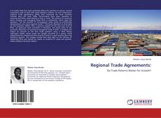 Bookcover of Regional Trade Agreements: