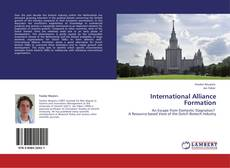 Bookcover of International Alliance Formation