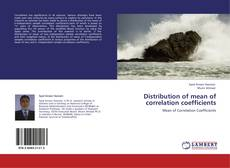 Buchcover von Distribution of mean of correlation coefficients