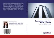 Buchcover von Социология права   США 20 века