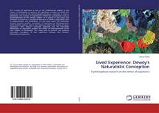 Capa do livro de Lived Experience: Dewey's Naturalistic Conception