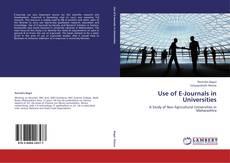Capa do livro de Use of E-Journals in Universities