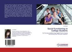 Copertina di Social Functioning in College Students