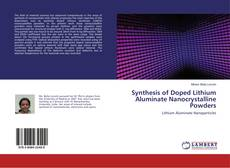 Capa do livro de Synthesis of Doped Lithium Aluminate Nanocrystalline Powders