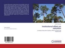 Обложка Institutional effect on valuation