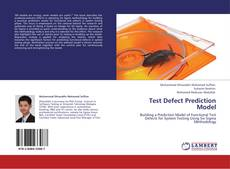 Bookcover of Test Defect Prediction Model