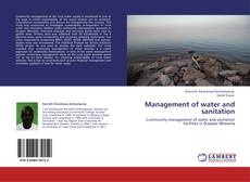 Bookcover of Management of water and sanitation