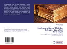 Copertina di Implementation of Christian Religious Education Curriculum