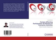 Bookcover of Factors Affecting Participation Of Women In Economic Activities